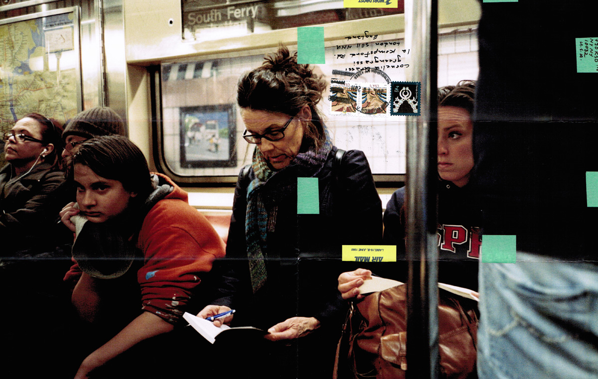 Moyra Davey, <em>Subway Writers 1</em> (det.), 2011. C-print. Courtesy of the artist and Murray Guy, New York.