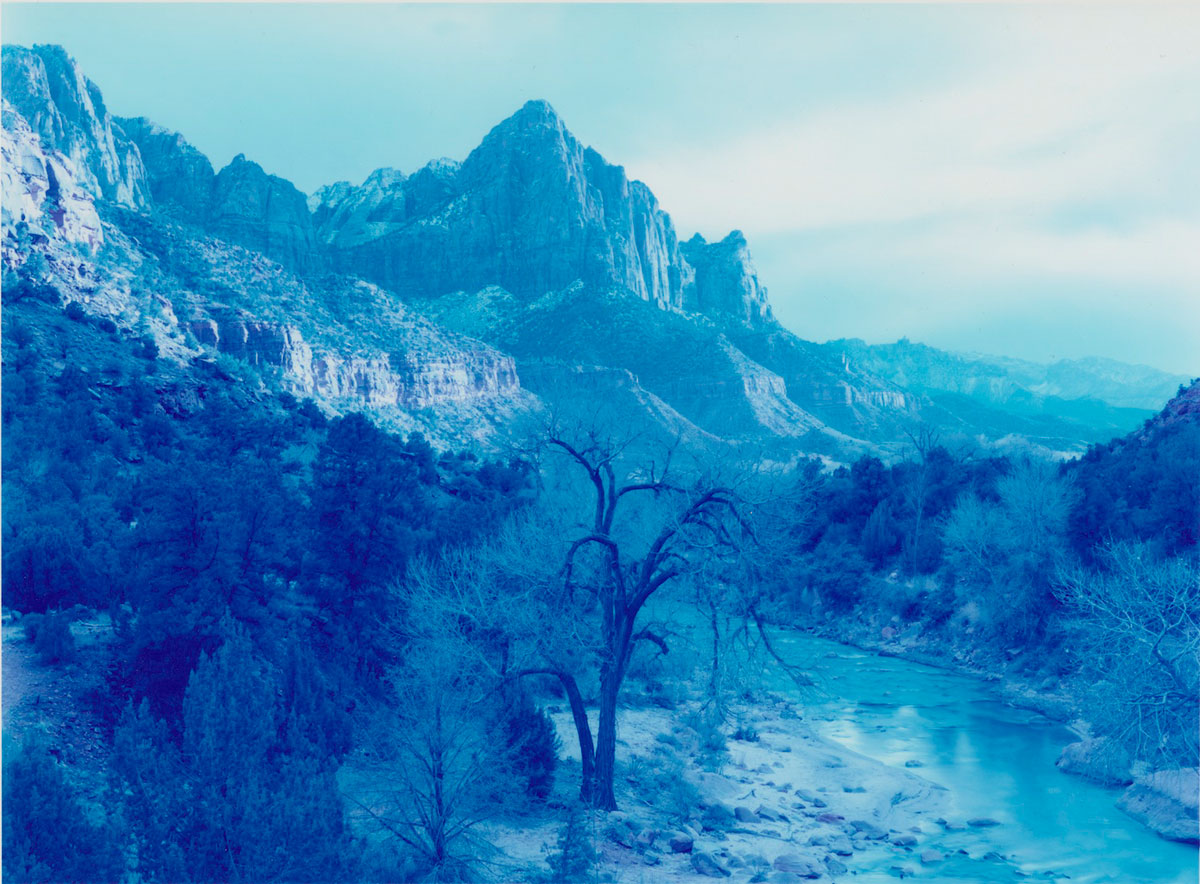 David Benjamin Sherry, <em>Winter Storm in Zion Canyon, Zion, Utah</em>, 2013. Traditional Color Darkroom Photograph, 30 × 40 inches. Courtesy of the artist and Salon 94, New York.