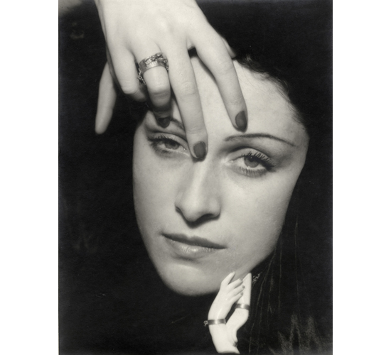 Man Ray, <em>Portrait of Dora Maar</em>, 1936. Gelatin silver print. Courtesy of The Collection of Michael Mattis and Judith Hochberg, © Estate of Man Ray
